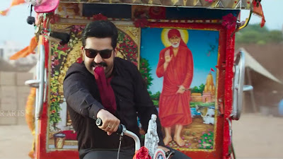 Jr NTR Riksha Ride HD Image In Jai Lava Kusa
