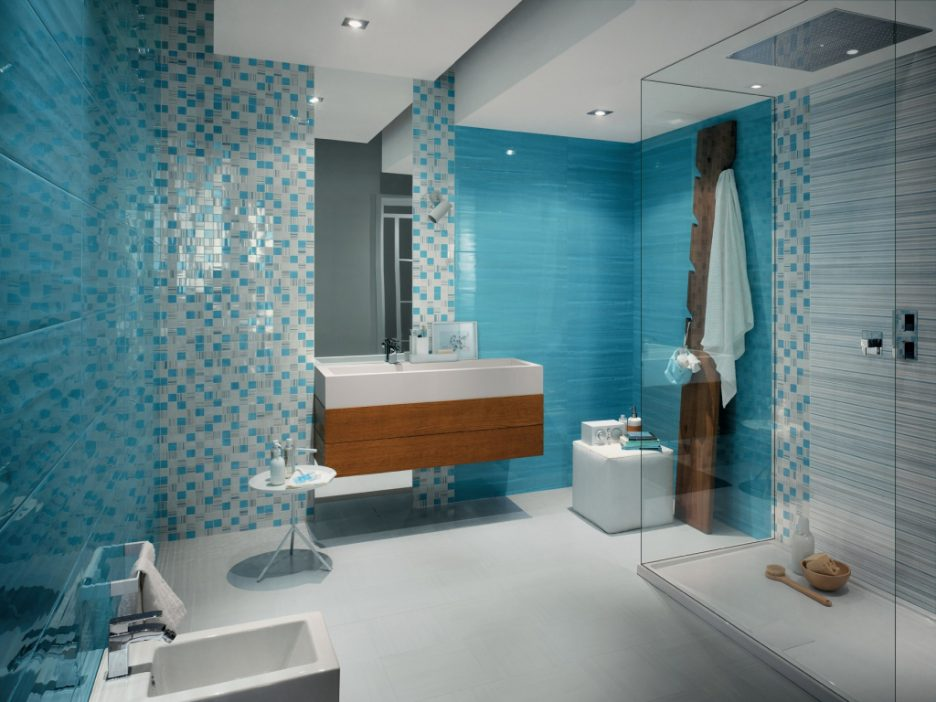 Modern blue bathroom catalog: decor, ideas, tiles