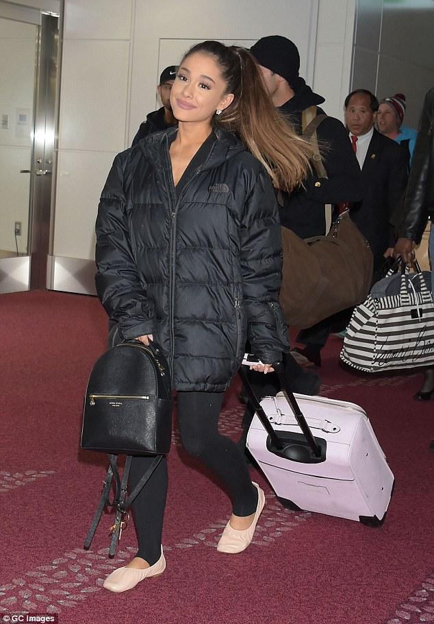 Ariana Grande with Henri Bendel West 57th Backpack