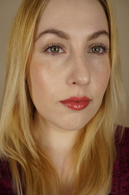 Too Faced Brow Envy Kit, Covergirl LashBlast Waterproof Volume Mascara, Too Faced La Creme Lipstick in 'Cinnamon Kiss', and It Cosmetics CC + Lip Serum in 'Love'
