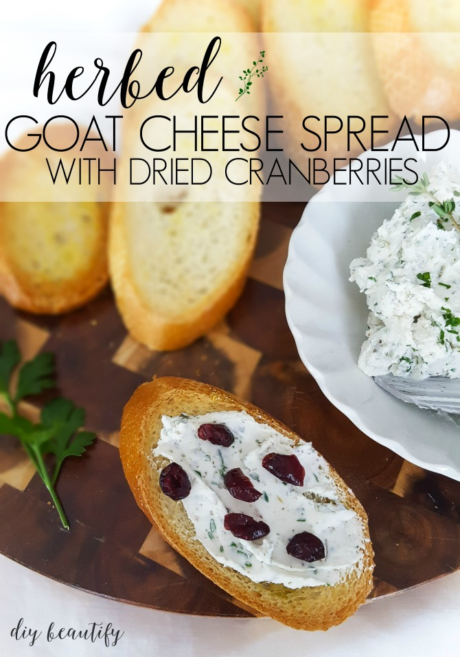 cranberries add a sweet zing to herbed goat cheese spread