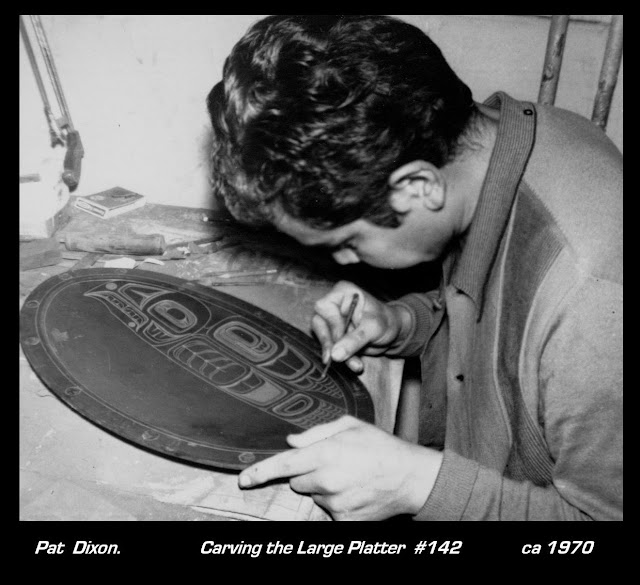 Pat Dixon Haida artist carving argillite