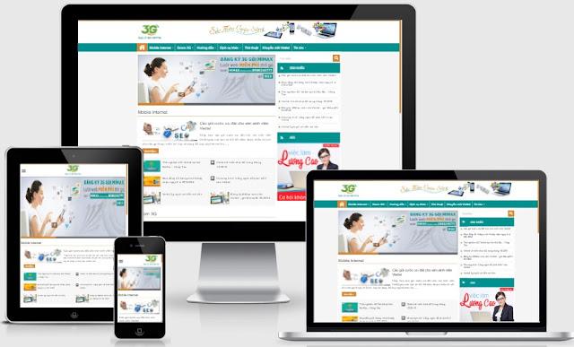 Templates blogspot tin tức dịch vụ 3G nhà mạng