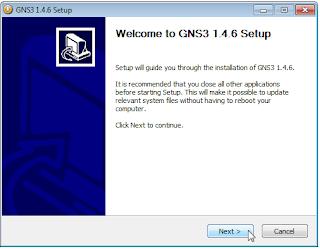Instalasi GNS3 Mikrotik Cisco