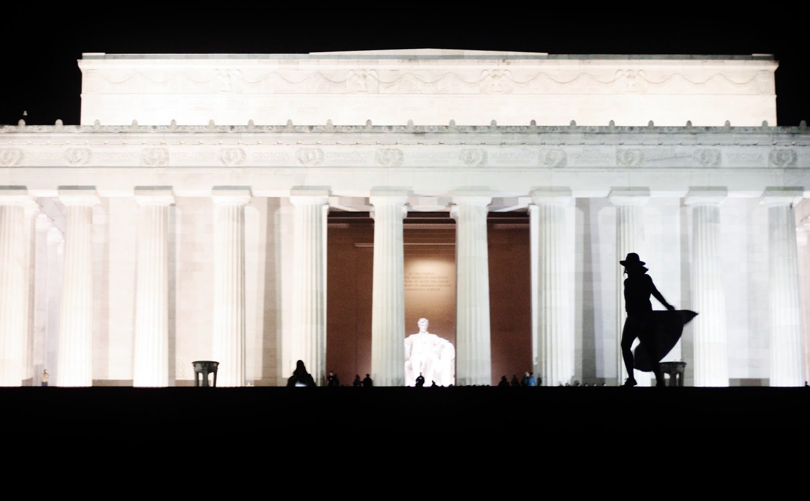 Lincoln Memorial de noche en Washington D.C.