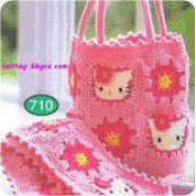 Bolso Hello kitty a Crochet