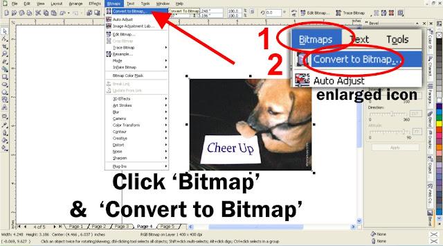 bitmap, page curl, corel
