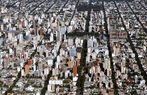 vista aérea de La Plata