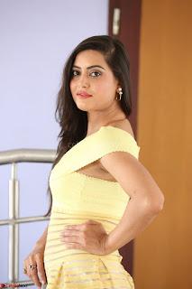 Shipra gaur in V Neck short Yellow Dress ~  043.JPG