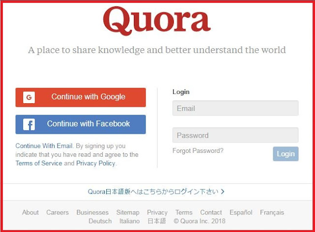 Quora account