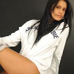 Andrea Rincon, Selena Spice Galeria 19: Buso Blanco y Jean Negro, Estilo Rapero Foto 108