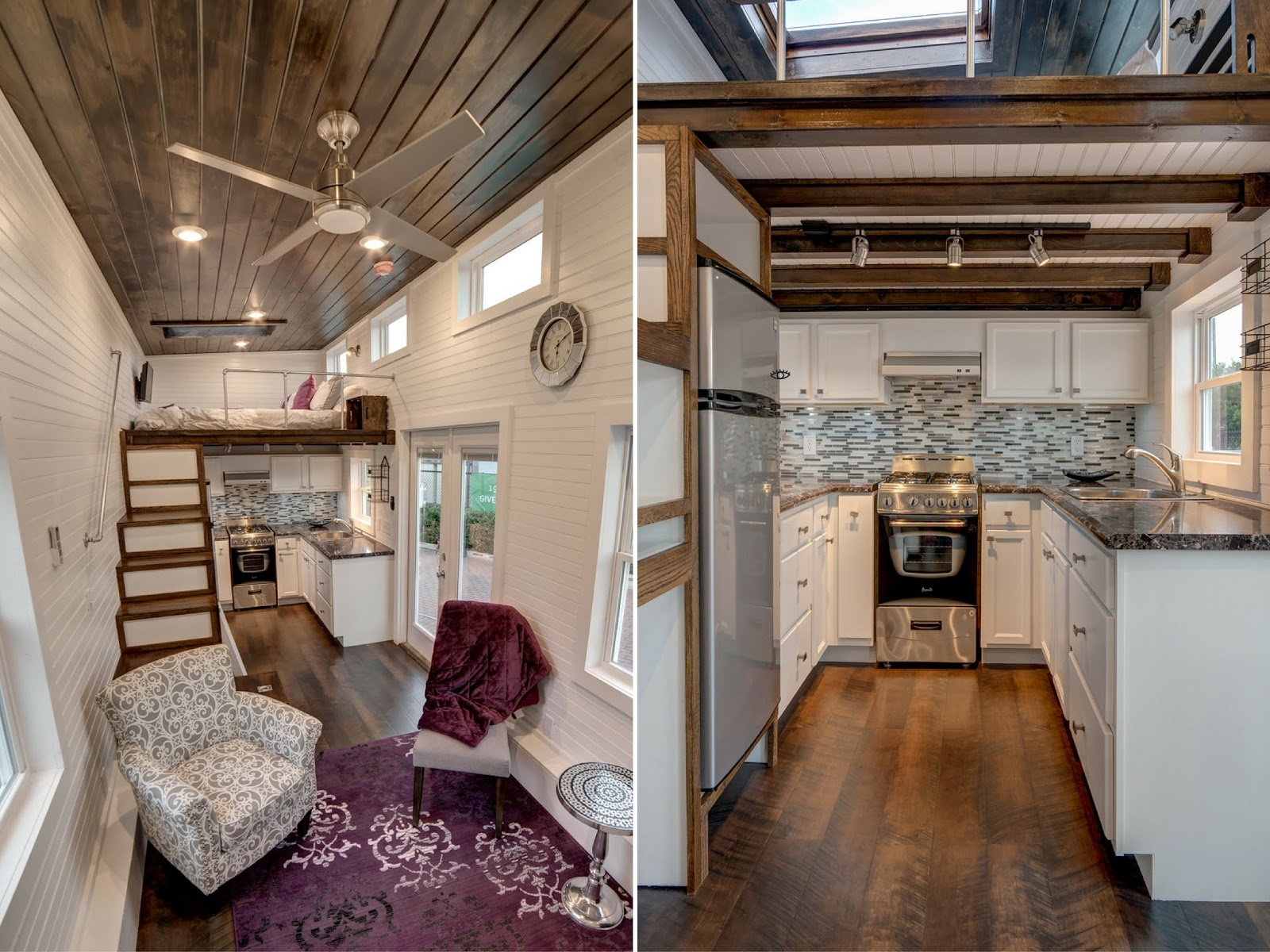 Tiny house town the freedom by alabama tiny homes for Small house interior