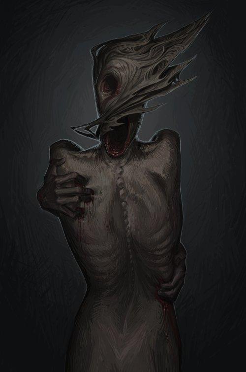 Angelina Zhogina deviantart artstation arte ilustrações terror fantasia sombria lovecraft infernal