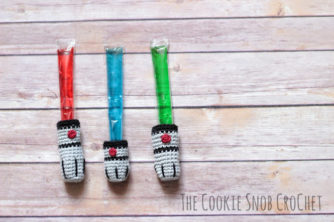Lightsaber Ice Pop Cozies Crochet Pattern
