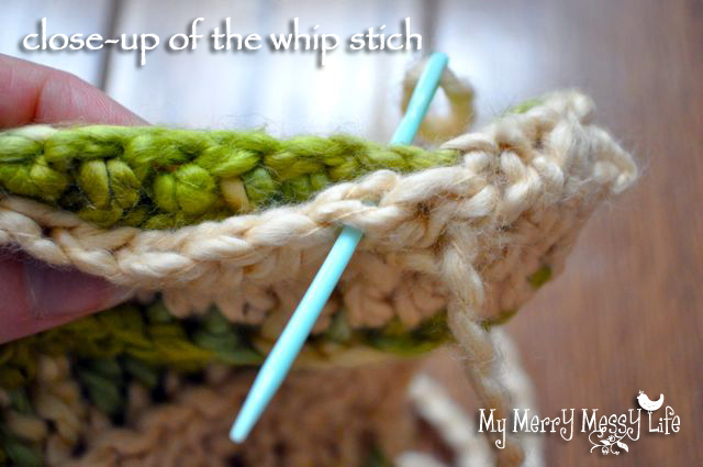 Ribbed Baby Cocoon Crochet Pattern - How to Do a Whip Stitch