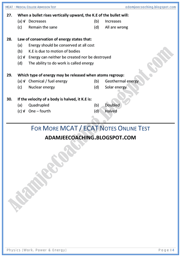 mcat-physics-work-power-and-energy-mcqs-for-medical-entry-test