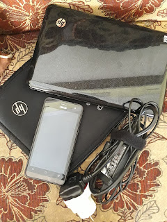 Laptop, hp dan charger