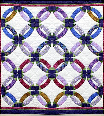 the double wedding ring design first published in 1928 is believed to be a variation of an even older pattern called pickle dish see the article by - Wedding Ring Quilt Pattern