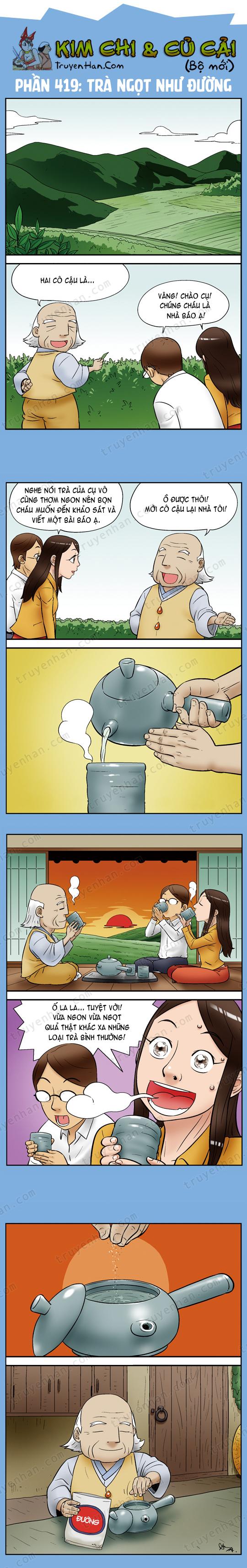 Kim Chi & Củ Cải (bộ mới) phần 419: Trà ngọt như đường