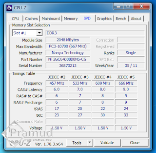 screenshot spesifikasi ram laptop ddr3 2gb pc10600 asus k43sj - pramud blog