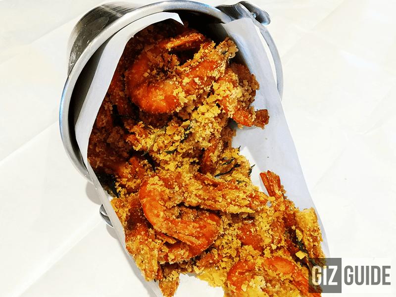 Buttered Cereal Shrimp, so GOOD