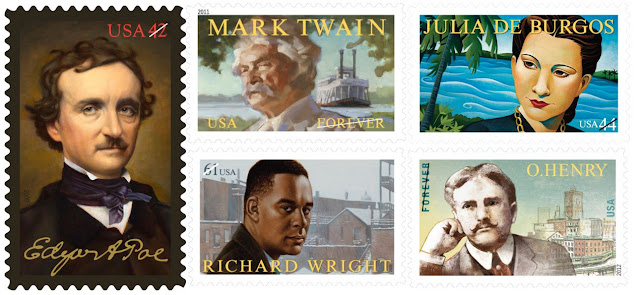 Série Literary Arts  - US Stamps