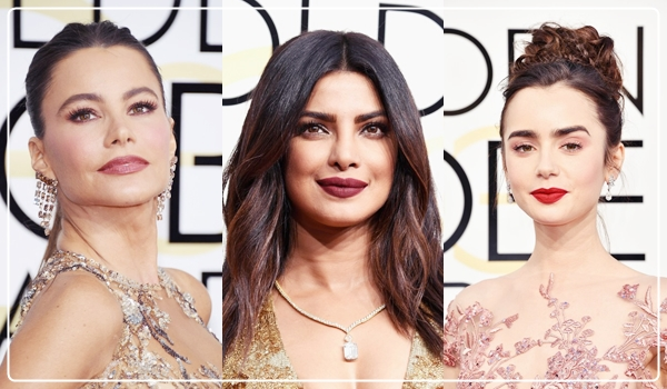 Lipsticks worn at Golden Globes 2017, celebrity makeup, celebrity looks, stand out looks at golden globes, makeup, best lipsticks, celebrity lipsticks,