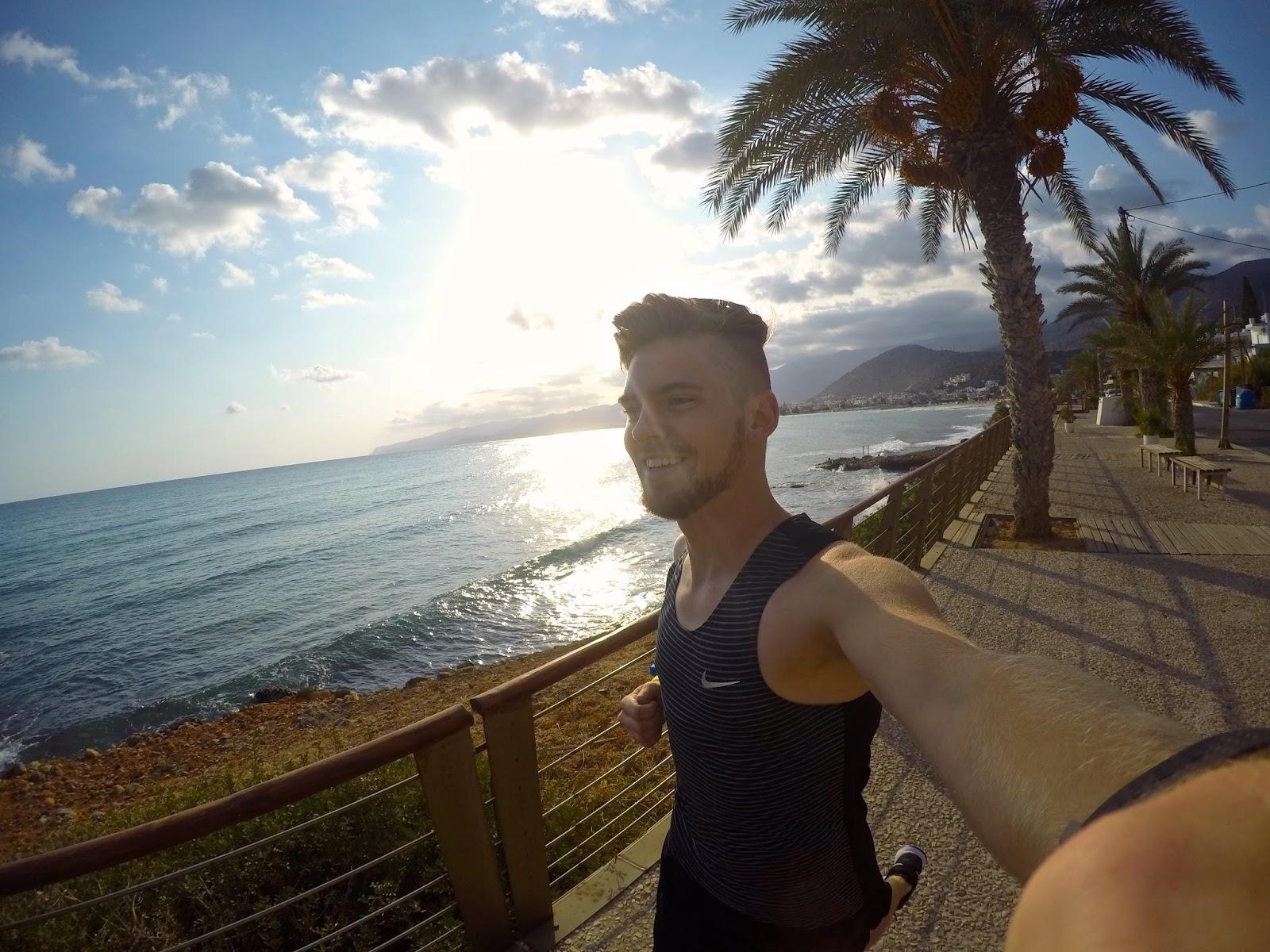 Crete Running Mediterranean Sea