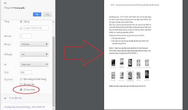 [Thủ thuật Internet] Hướng dẫn cách in ấn bài viết trên các website theo tùy chọn