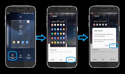 Cara Instal Tema Galaxy S9 Plus di semua android