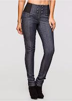 Jeanşi cu bata taliei super înaltă (bonprix)
