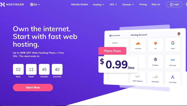 hostinger cheapest hosting plan