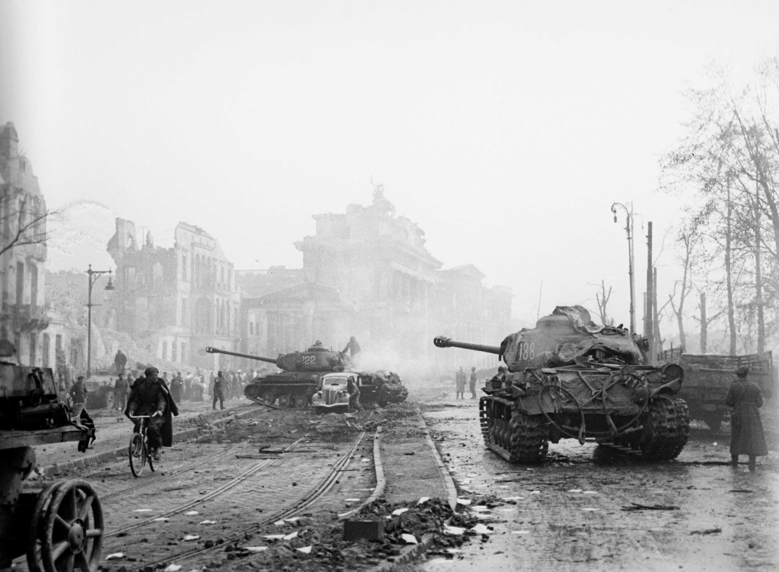Tanks in the streets of Berlin.