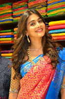 Puja Hegde looks stunning in Red saree at launch of Anutex shopping mall ~ Celebrities Galleries 007.JPG