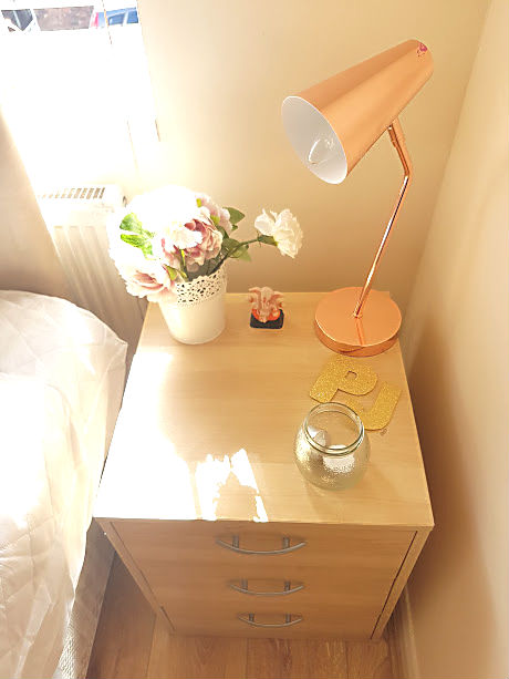 bedside table organisation