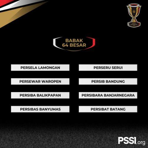 zona 6 babak 64 besar piala indonesia 2018