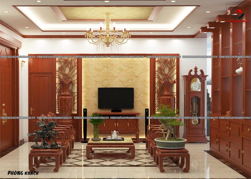 Mẫu thiết kế biệt thự nhà vườn 1 tầng đẹp hiện đại dt 150m2 Phong-khach-2