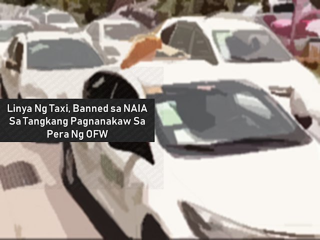 MIAA Director General Ed Monreal warned that should negative reports involving white taxis persist, he will be imposing a ban on them and they will not be allowed to enter and pick-up passengers around Ninoy Aquino International Airport (NAIA).  Advertisement         Sponsored Links       Taxi line Queensmen has been banned from picking up passengers at the Ninoy Aquino International Airport (NAIA) after one of its drivers tried to speed away with an overseas Filipino worker's (OFW) bag stashed with Php60,000 worth of belongings.  An official from the Manila International Airport Authority (MIAA) confirmed the banning of the whole fleet of taxi under Queensmen following the charges filed against one of its drivers, Rodel Ormillo, reported Inquirer.  Speeding away with OFW's cash  OFW Catalina Prado, a laser technician from Oman, arrived at NAIA on July 16 and rode a white taxi, driven by Ormillo, to Muntinlupa City.  Prado and Ormillo, however, had a misunderstanding regarding the Php1,700 fixed fare and agreed to drop the OFW off to transfer to another cab.  While unloading her bags, Prado noticed that one of her bags, a black backpack containing her cash and belongings, is missing. She immediately ran towards to taxi but the driver sped away.  Prado reported the missing bag to the Manila International Airport Authority (MIAA) Intelligence and Investigation Division (IID) to trace the taxi driver.  The Airport Police were able to locate Ormillo in San Isidro, Rizal but he denied taking the bag. Upon further questioning, the taxi driver later admitted leaving the bag in a friend's house.  Ormillo is currently facing robbery charges before the Pasay City's Prosecutor's office.    Prado, meanwhile, commended the airport officials for helping her retrieve her cash.      READ MORE:  Find Out Which Country Has The Fastest Internet Speed Using This Interactive Map    Find Out Which Is The Best Broadband Connection In The Philippines   Best Free Video Calling/Messaging App
