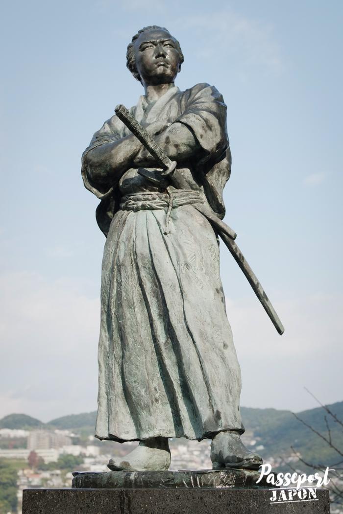 Statue de Sakamoto Ryoma, Teramachi, Nagasaki