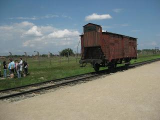 Train tracks that ended at Birkenau