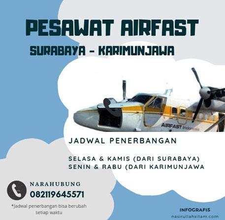 Jadwal pesawat Airfast Surabaya - Karimunjawa