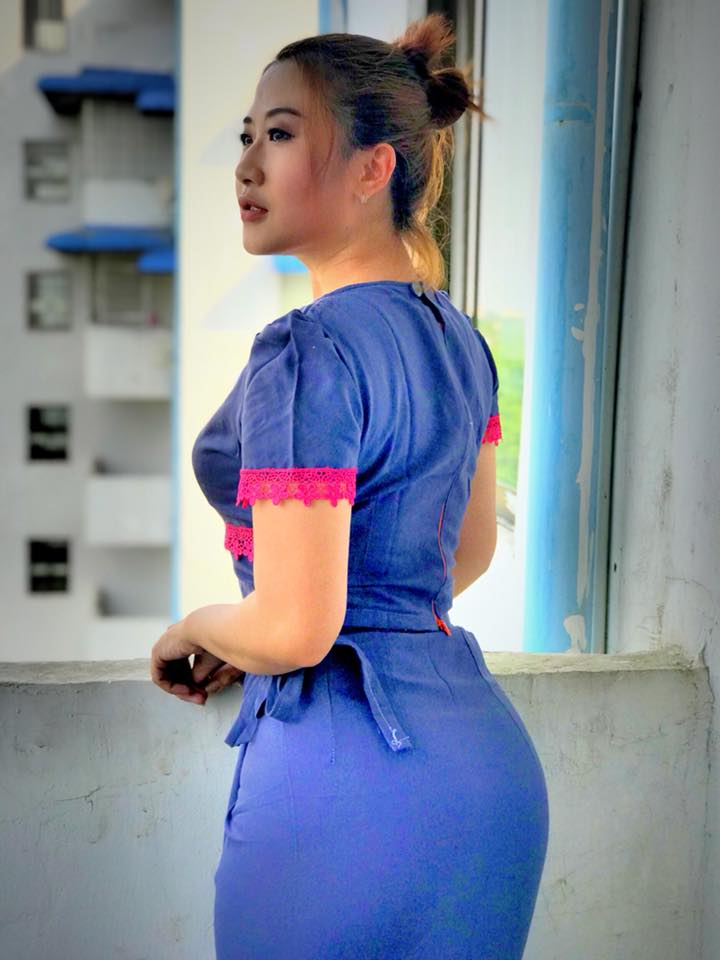 Nan Htaik Htar San Is Becoming Famous And Trending Model In Myanmar Most Of The Time She Is Wearing Myanmar Traditional Outfit