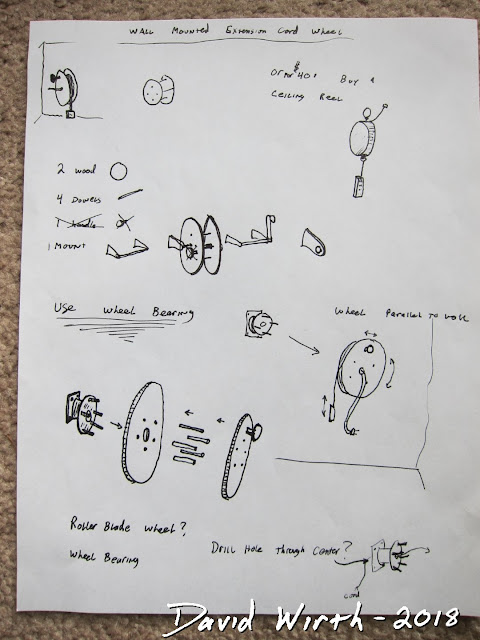 reel sketches, idea, wood, plan