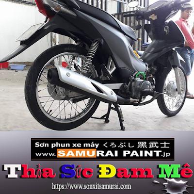 Tự sơn vỏ xe máy màu bạc 124