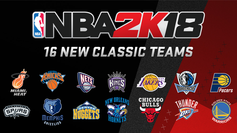 NBA 2K18 New Classic Teams List