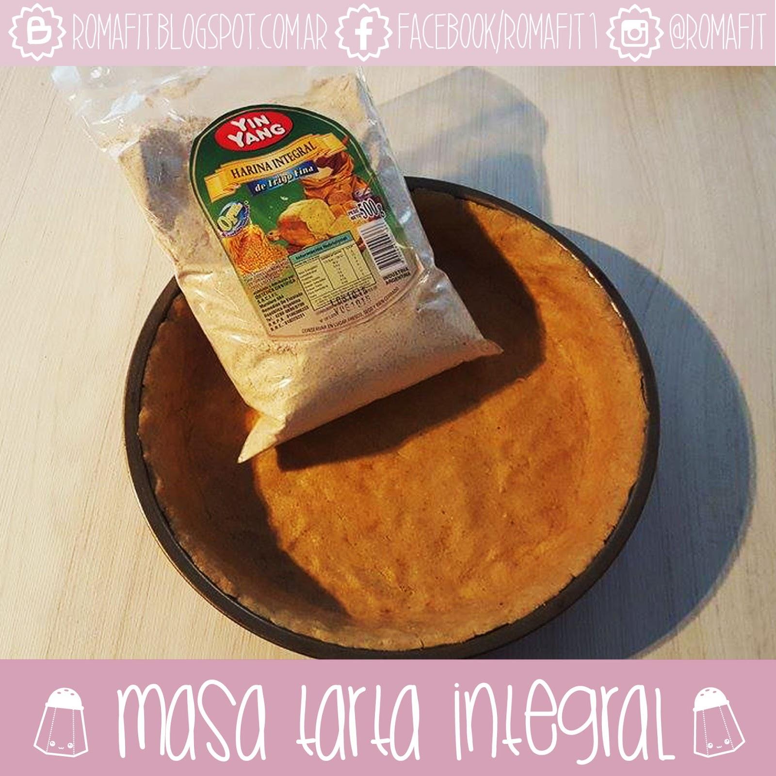 masa de tarta light con harina integral