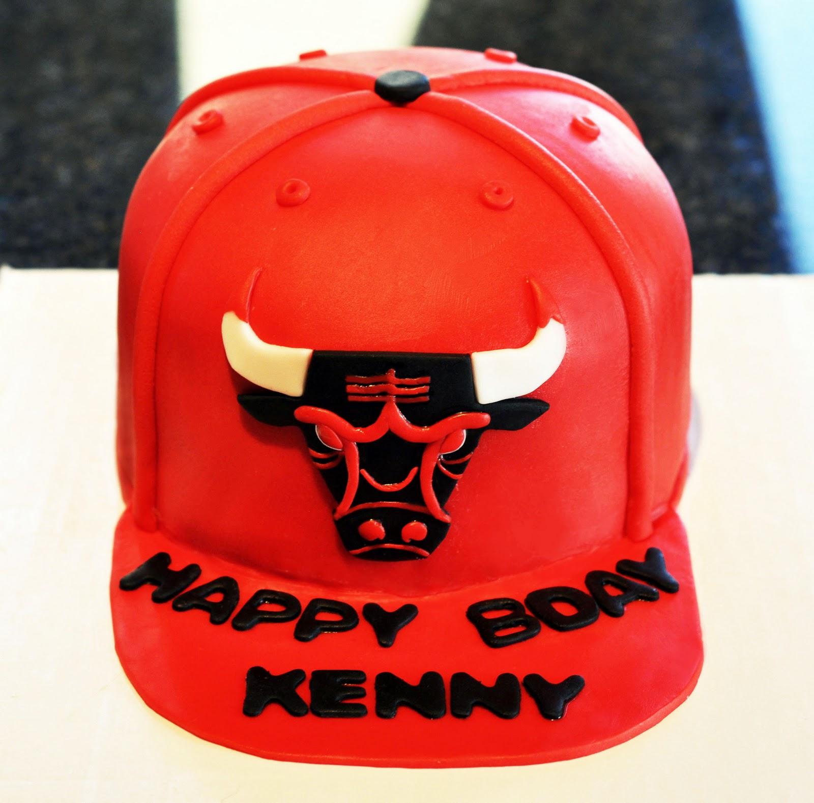 official photos e6319 85682 Chicago Bulls Hat Cake
