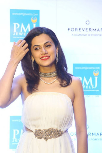 Taapsee Stills At PMJ Jewels Diamond Collection Launch