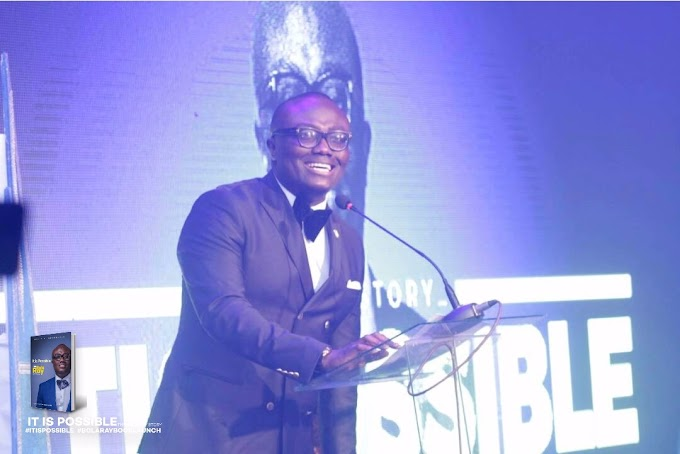 """#ItIsPossible: John Mahama, Jospong, Duffour Jnr. pick up first copies of Bola Ray's biography """"It Is Possible""""."""