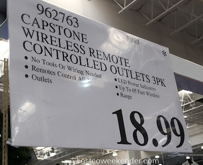 Deal for a 3 pack of Capstone Lighting Wireless Remote Control Outlets at Costco